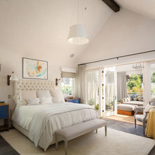 Transitional Bedroom by Michael Kelley Photography