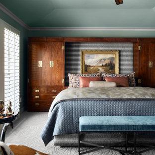 Ispirazione per una camera da letto stile americano