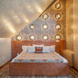 Etonnant Bedroom   Southwestern Dark Wood Floor Bedroom Idea In Nashville With Beige  Walls