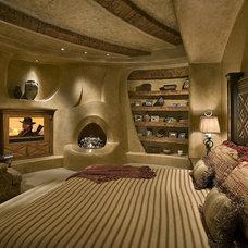 Southwestern Bedroom by Bess Jones Interiors