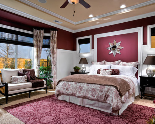 burgundy bedroom design ideas remodels photos houzz