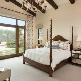This is an example of a mediterranean bedroom in San Diego.