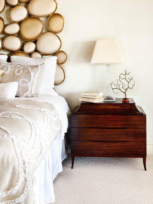 Transitional Bedroom Photo In Austin With Beige Walls