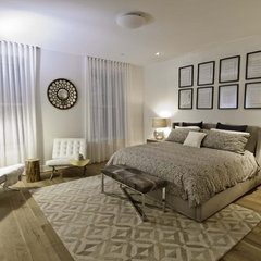 eclectic bedroom by Marie Burgos Design
