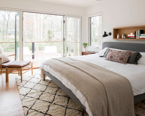 30 Best Midcentury Modern Bedroom with White Walls Ideas ...