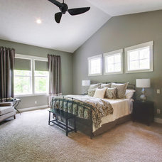 Transitional Bedroom by Heartland Builders, LLC