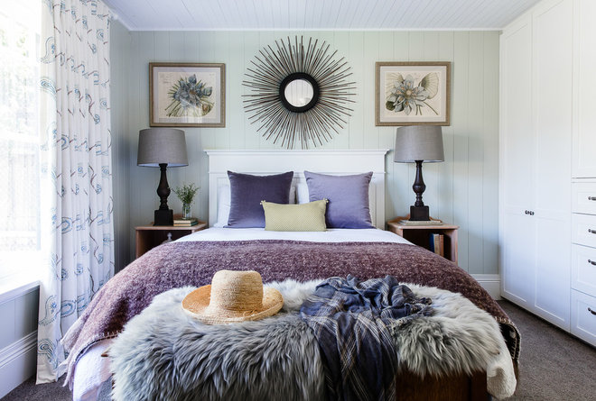 Transitional Bedroom by Lisa Burdus Interior Design
