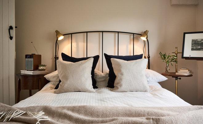 Transitional Bedroom by Caroline Baptista Interiors