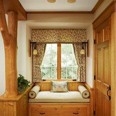 Rustic Bedroom by David Heide Design Studio