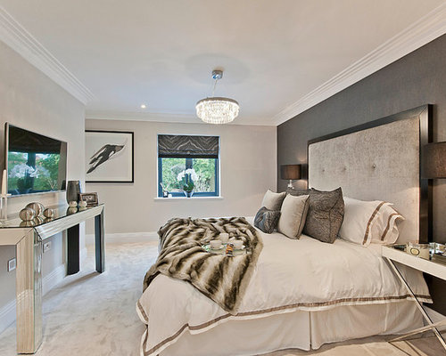 Bedroom Feature Wall Ideas And Photos Houzz - Bedroom feature wall ideas