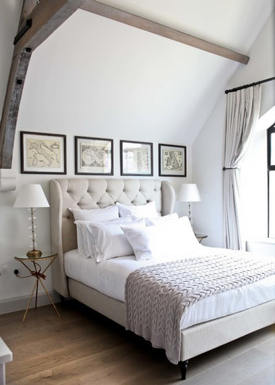 Transitional Bedroom by Button & Sprung