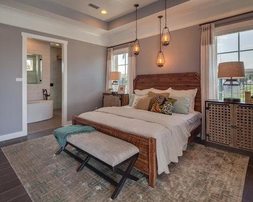 Chambre craftsman avec sol en stratifi photos et id es for Sol stratifie chambre