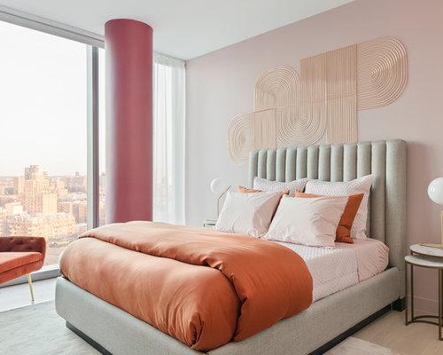 Pareti Rosa Camera Da Letto : Camera da letto con pareti rosa new york foto e idee per arredare