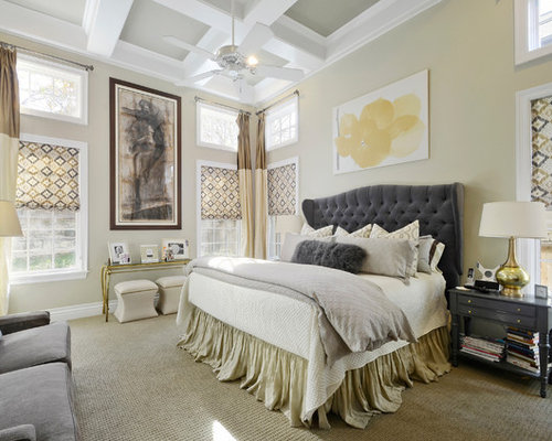 Master bedroom design ideas renovations photos with yellow walls Master bedroom with yellow walls