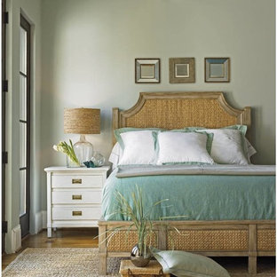 Example of a beach style bedroom design in Seattle