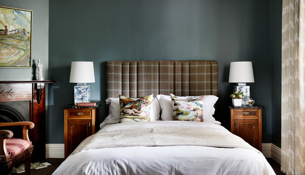 Eclectic Bedroom by Brett Mickan Interior Design