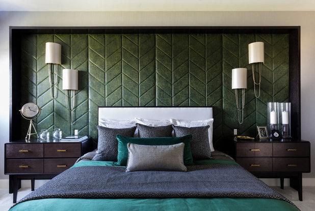 Transitional Bedroom by Suna Interior Design