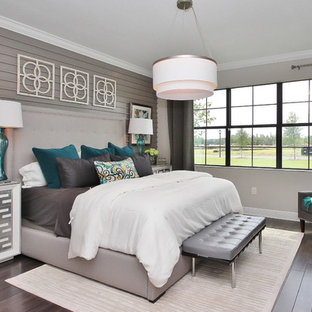 Turquoise And Gray Bedroom Ideas And Photos | Houzz