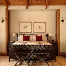 Rustic Bedroom by Robert Brown Interior Design