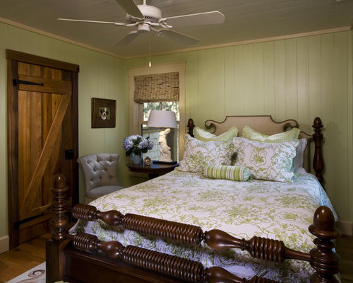 Mountain Style Bedroom Photo In Atlanta With Green Walls