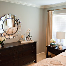 Contemporary Bedroom by A Well Dressed Home