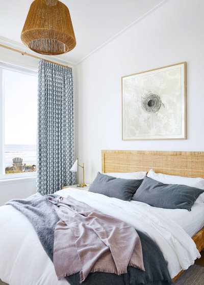 Beach Style Bedroom by Lauren Nelson Design