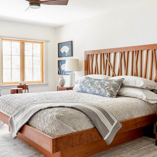 Inspiration For A Master Bedroom Remodel In Burlington With White Walls