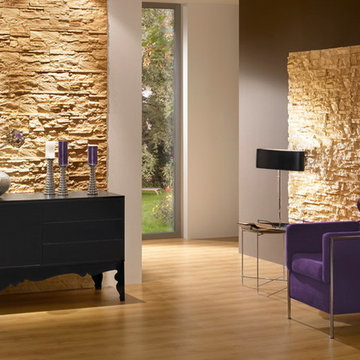 Stone-look feature wall Stone Design Tenerife series yellow