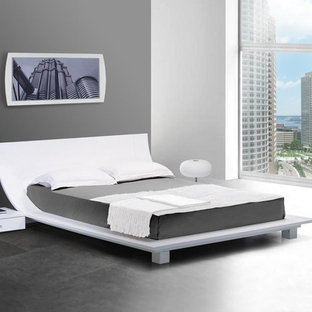 Inspiration for a contemporary bedroom remodel in Los Angeles