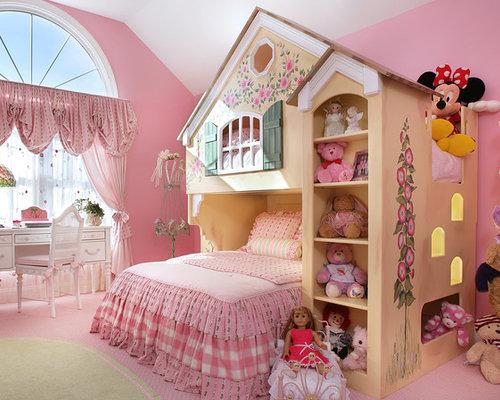 Pareti Rosa Camera Da Letto : Camera da letto contemporanea con pareti rosa foto e idee per