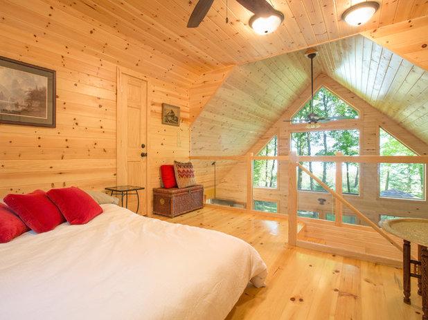 Rustic Bedroom by Kurt Johnson Photography