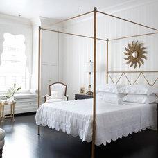 Transitional Bedroom by Eva Quateman Interiors