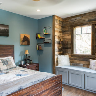 75 Most Popular Rustic Bedroom With Blue Walls Design Ideas For 2019
