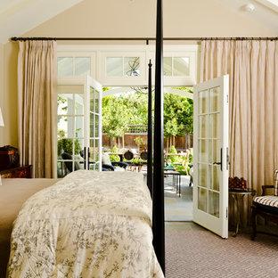 サンフランシスコのおしゃれな寝室 (スレートの床)