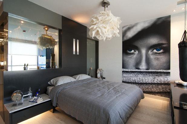 Moderne Chambre by Neslihan Pekcan/Pebbledesign