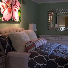 Transitional Bedroom by Shoshana Gosselin