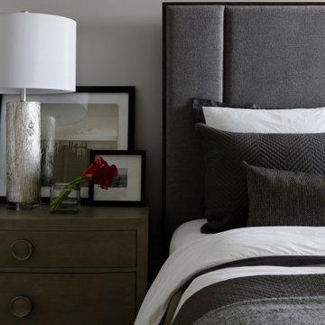 Stylish masculine bedroom