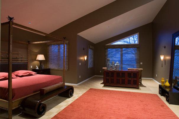 Asian Bedroom by Nora Schneider Interior Design