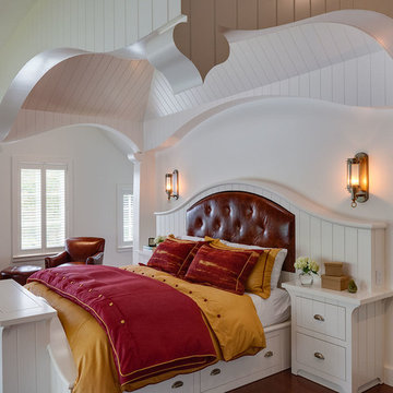 Summer Mooring - Coastal Bedroom & Arched Ship lap Ceiling- Cape Cod, MA Custom
