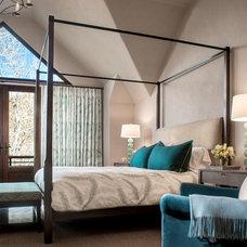 Transitional Bedroom by Jennifer Hoey Interior Design