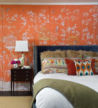 Eclectic Bedroom by Andrea Schumacher Interiors
