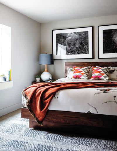 Midcentury Bedroom by cky design, inc.