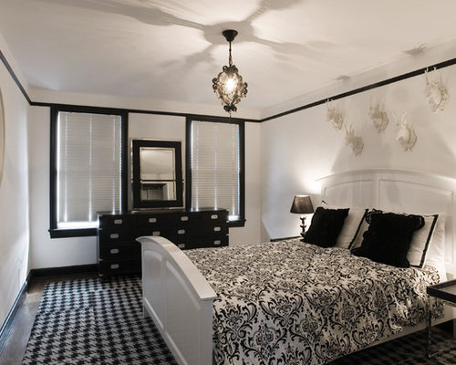 black and white bedroom houzz - Black And White Bedroom Decorating Ideas