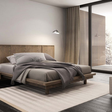 Surface Bedroom by Huppe - $1,847.00   Surface Platform Bed
