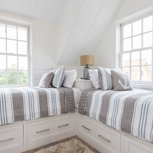 Inspiration for a beach style bedroom remodel in Boston