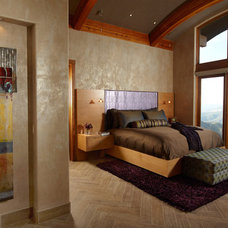 Contemporary Bedroom by Jaque Bethke for PURE Design Environments Inc.
