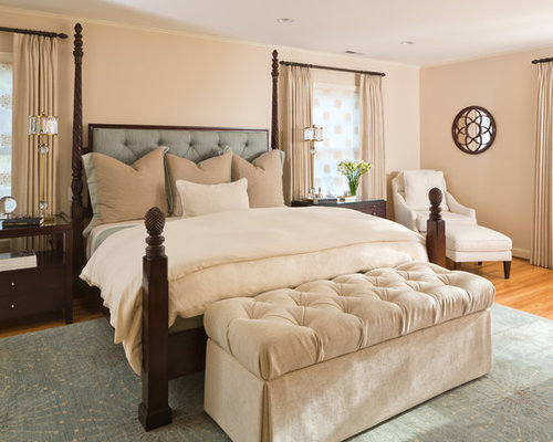 upholstered headboard with wood trim  houzz, Headboard designs