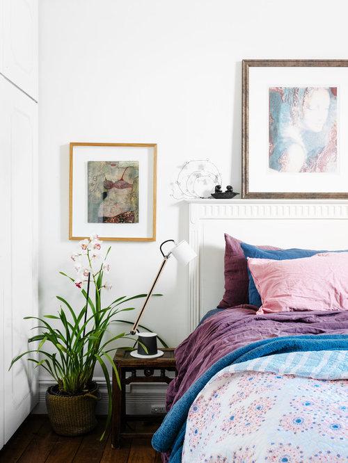 eclectic color block bedroom design ideas renovations photos