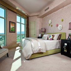 Contemporary Bedroom by Interiors by Cary Vogel