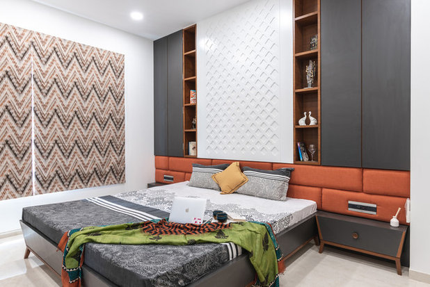 Contemporary Bedroom by Pavan Infratech